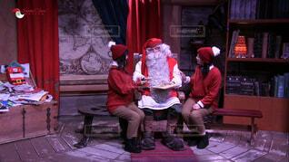 ロバニエミのクリスマスマーケットにての写真・画像素材[4495588]