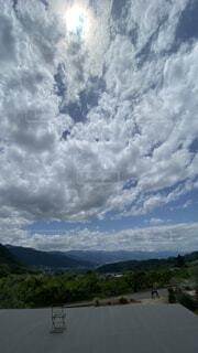 空,屋外,雲,山,くもり