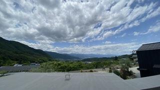 風景,空,屋外,雲,山,樹木