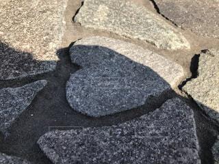 風景,屋外,影,ハート,岩,地面