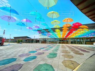 傘アートの写真・画像素材[4505658]