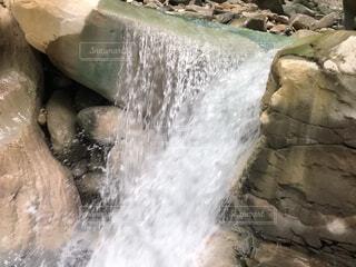 自然,屋外,水面,滝,岩