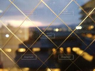 温泉,夜,夜景,窓,ガラス,網入り窓