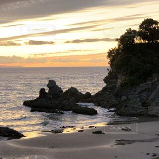 自然,風景,海,空,屋外,ビーチ,雲,夕暮れ,水面,海岸,鹿児島,西方