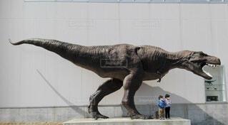 動物,仲良し,壁,像,双子,夏休み,爬虫類,恐竜,模型,彫刻,ツインズ