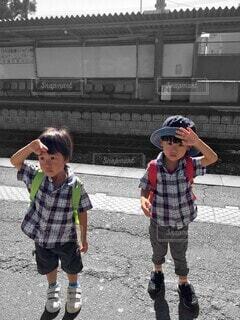 双子コーデの写真・画像素材[4517177]