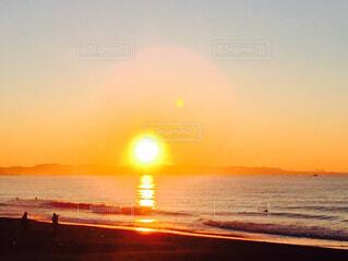 自然,海,空,屋外,太陽,ビーチ,夕暮れ,水面,日の出