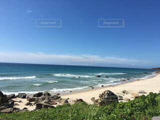 自然,海,空,屋外,ビーチ,雲,水面,海岸,岩
