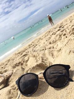 自然,海,空,夏,砂,サングラス,雲,砂浜,ブルー,ハワイ