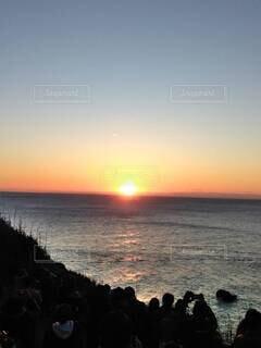 海,空,屋外,太陽,ビーチ,雲,夕暮れ,水面,日の出