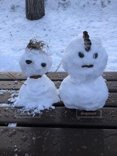 自然,雪,屋外,雪だるま