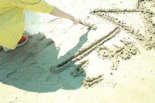 海,夏,屋外,砂浜,相合傘,恋