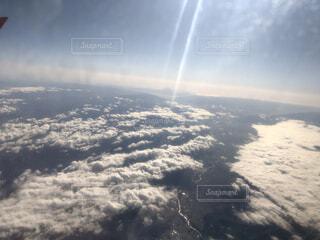自然,空,雪,屋外,太陽,雲,飛行機,水面,雲海,空中,航空機,空気,日中
