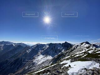 自然,空,雪,屋外,太陽,山,登山,丘,斜面,覆う