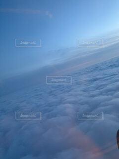 空,屋外,雲,飛行機,空中