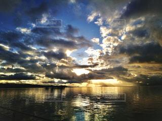 自然,風景,空,屋外,湖,太陽,雲,夕暮れ,水面,光,くもり