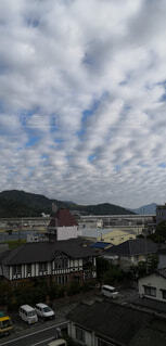 自然,空,屋外,雲,山,家,町