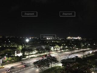 空,夜,夜景,屋外,道路,高速道路,都会,シンガポール,街路灯