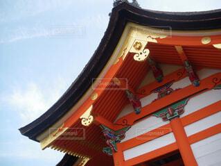 空,京都,神社,雲,寺,建築