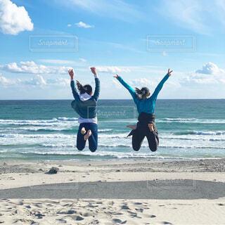 自然,風景,海,空,屋外,ビーチ,砂浜,水面,海岸,人物,人