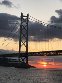 風景,空,建物,橋,屋外,湖,太陽,雲,夕暮れ,川,水面,旅行,日の出