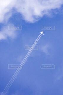 空,屋外,青空,青,飛行機,飛ぶ,飛行機雲,快晴,航空機