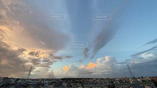 自然,空,屋外,雲,朝焼け