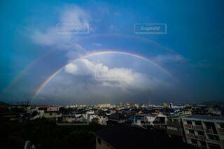 二重の虹の写真・画像素材[4538123]
