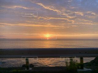 自然,風景,海,空,屋外,太陽,朝日,ビーチ,雲,水面,海岸,日の出,眺め,海岸線,サンライズ