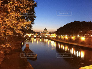 イタリア〜テベレ川の写真・画像素材[4496770]
