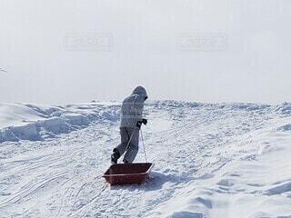 自然,冬,雪,屋外,山,丘,可愛い,斜面,日中,ウインタースポーツ,女のコ,おんなの子