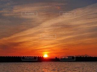 風景,空,屋外,湖,太陽,ビーチ,雲,夕暮れ,水面,残光