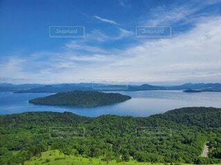 自然,風景,空,屋外,緑,雲,水面,山,樹木,大地,バック グラウンド