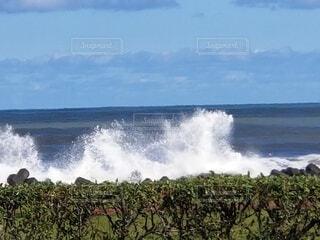 自然,海,空,屋外,ビーチ,雲,波,水面,海岸