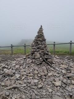 樹木,壁,神秘的,石積み,謎の石
