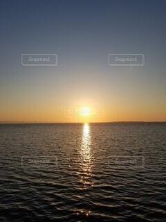 海,空,太陽,朝日,水面,日の出,新しい1日