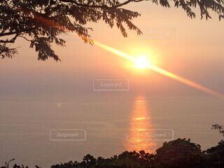 自然,風景,空,屋外,湖,太陽,雲,夕暮れ,水面,樹木,日の出,設定