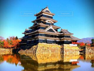 空,屋外,寺,建築,松本城 綺麗 城