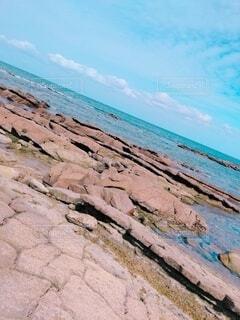 自然,風景,海,空,屋外,ビーチ,雲,晴天,青,水,水面,海岸,広い