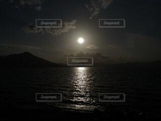 自然,風景,空,屋外,水面,月