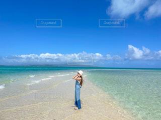 幻の島、青い海と青い空の写真・画像素材[4529741]