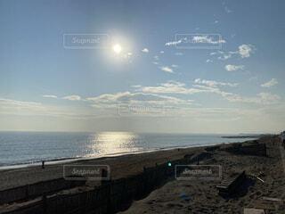 風景,海,太陽,砂浜,波,夕陽,凪