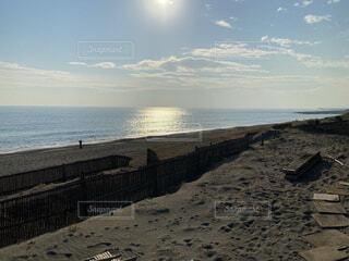 風景,海,太陽,砂浜,波,凪