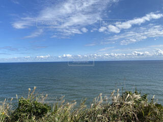 風景,海,空,太陽,雲,砂浜,波,崖,凪