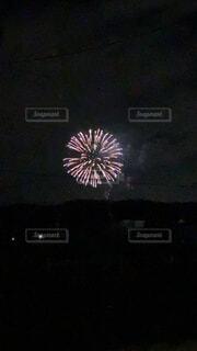 空,花火,暗い,景観