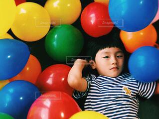 子ども,屋内,風船,少年