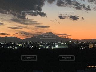風景,空,屋外,雲,夕暮れ,山