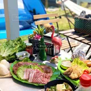 食べ物,夏,屋外,テーブル,野菜,ピクニック,料理,BBQ,ファストフード