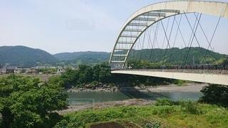 河川に架かる橋の風景の写真・画像素材[4530813]