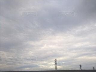 空の雲の群の写真・画像素材[4514384]
